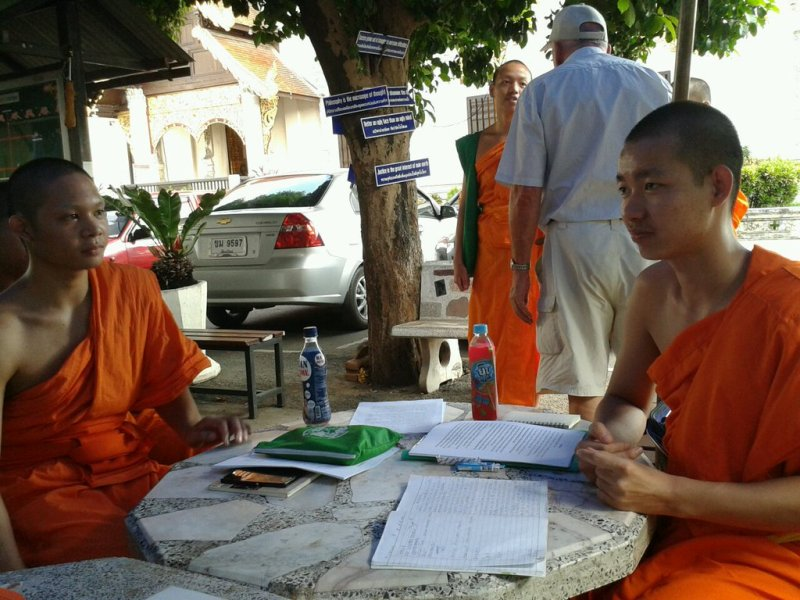 Chatting with Buddhist monks about respecting Buddhist beliefs