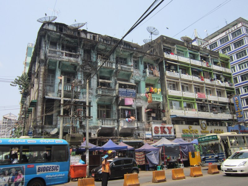 Downtown Yangon Buildings