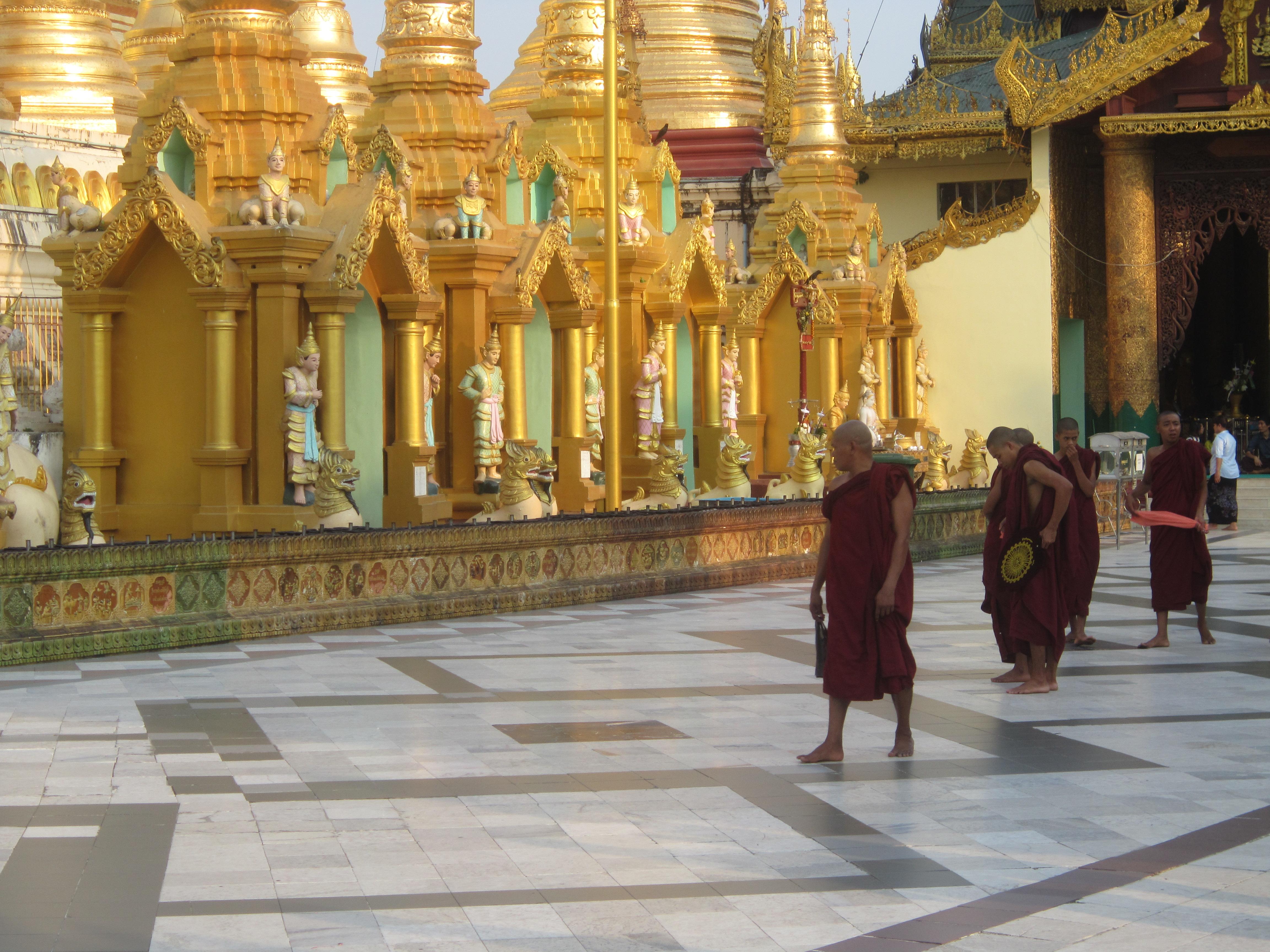 Shwedagon Paya Monks
