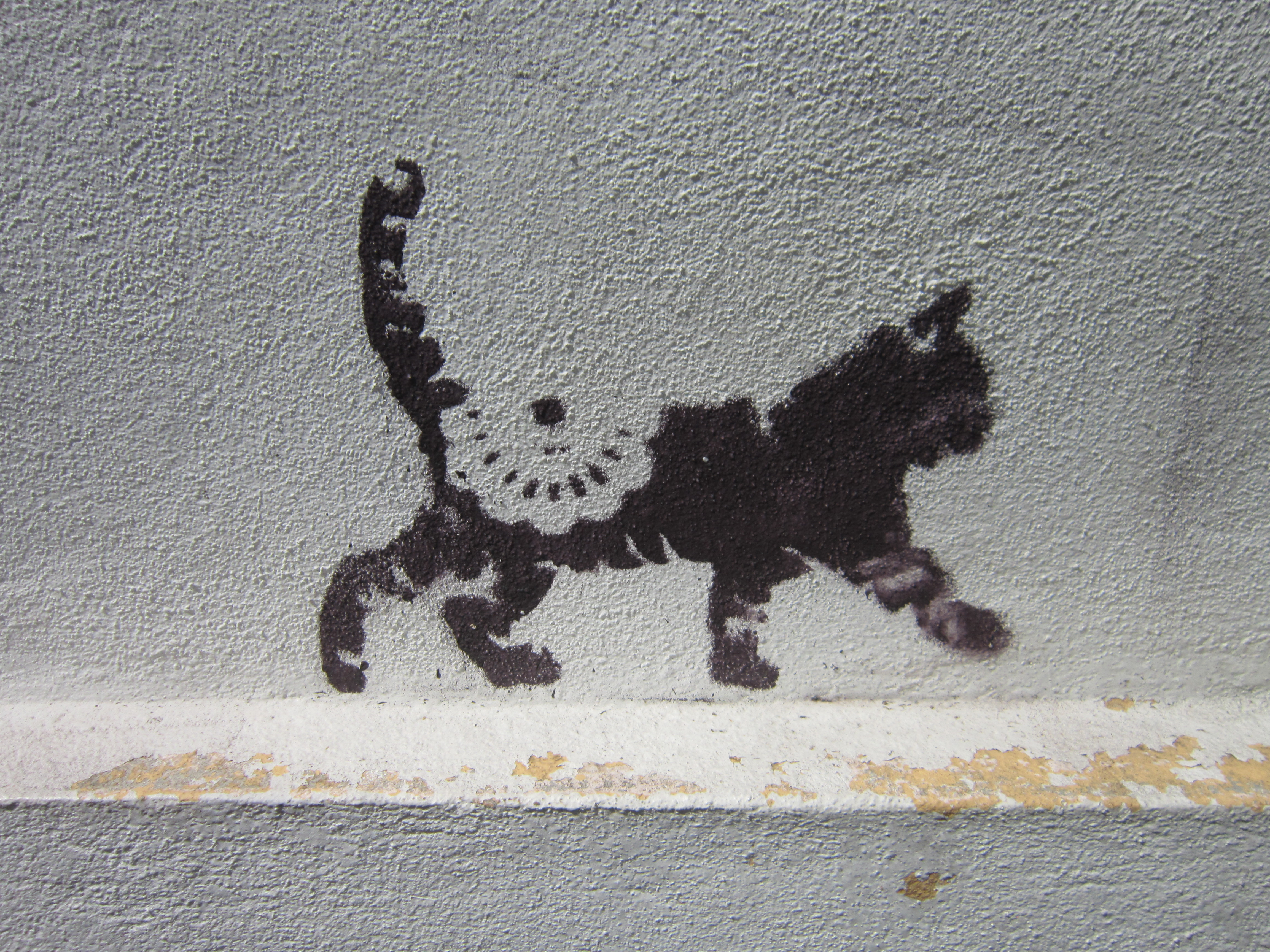 Penang Street Art Cat Print
