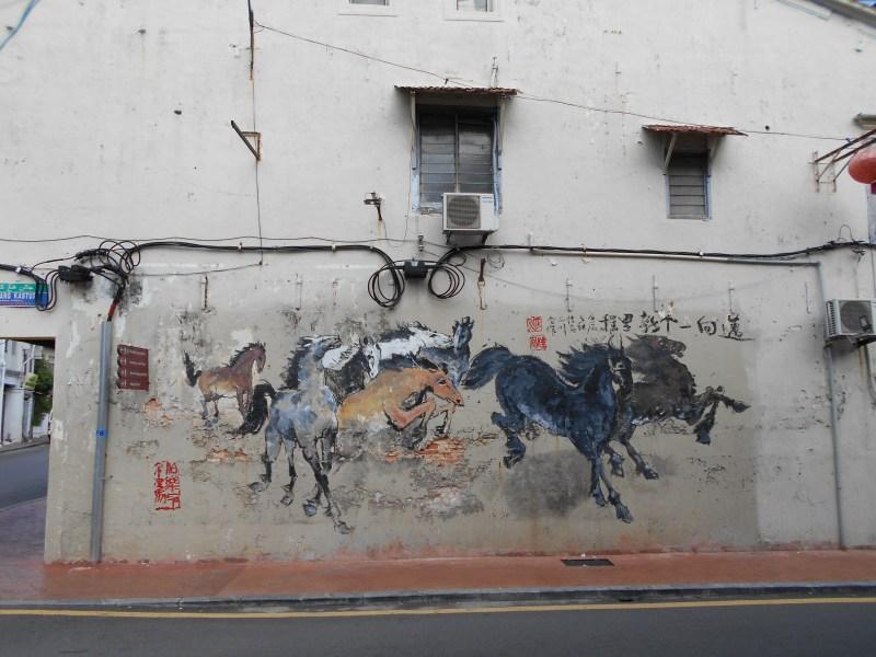 Melaka Street Art Horses