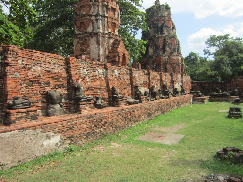 Decapitated Buddha statues in Ayutthaya Historical Park