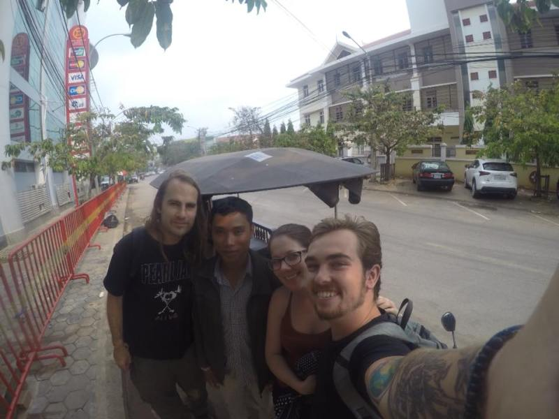 Posing with our Tuk Tuk Driver! after exploring the Temples Of Angkoe