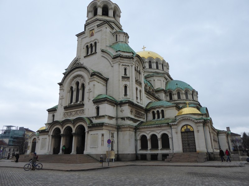View of the outside of Alexander Nevsky Cathedral, Sofia