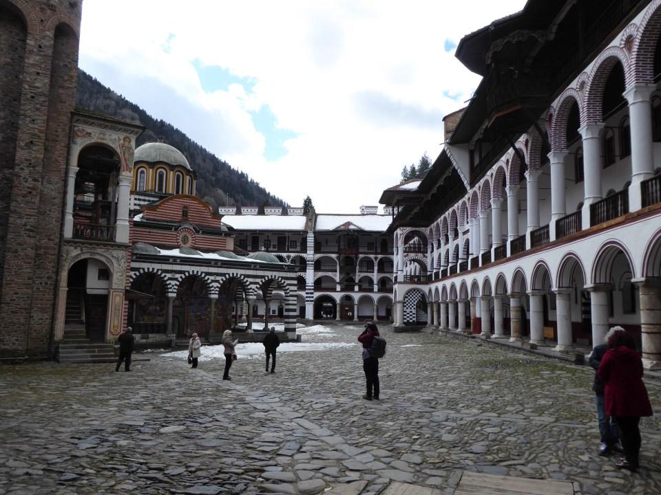 View inside Rila Monastery. 2 hours from Sofia, Bulgaria