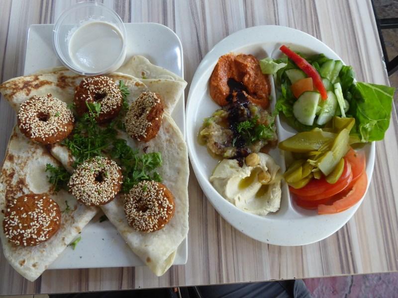 The The Falafel Platter at Mr. Shawerma. Vegetarian Penang Guide.