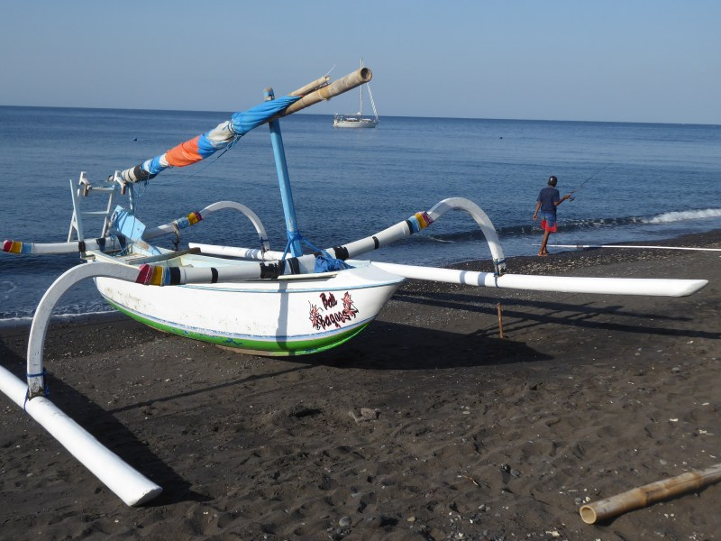 Boat on Amed beach
