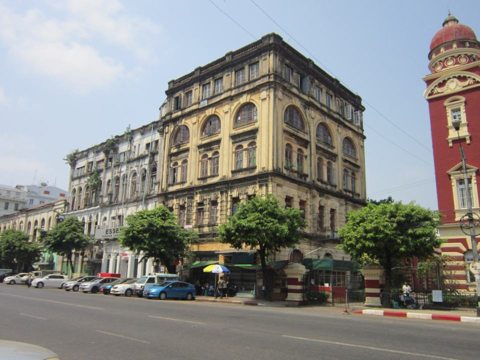 Old Colonial Buildings In Yangon - start of Myanmar Backpacking Itinerary