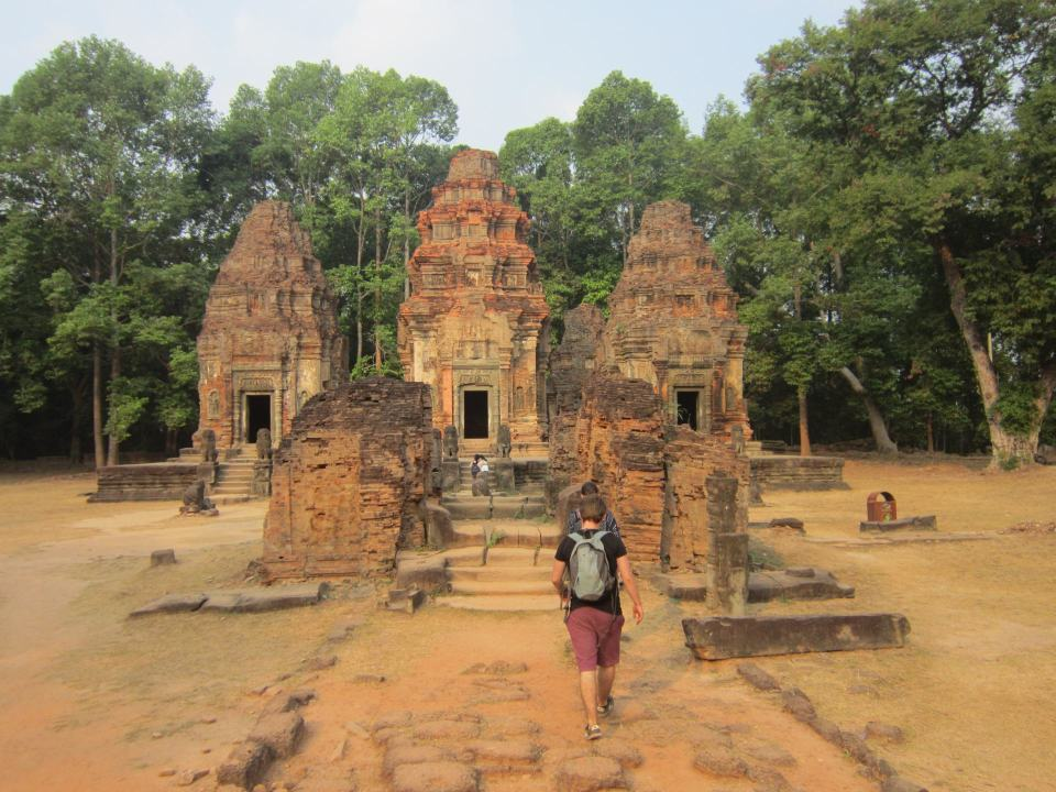 Preah Ko temple. Part of the Rolous Group in Angkor, Cambodia.