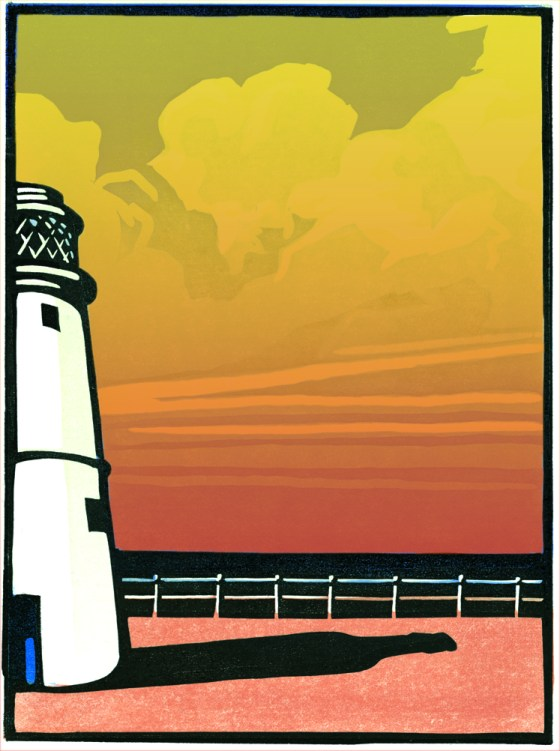 Adnams 'Lighthouse' with sunset 2