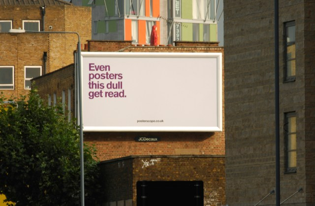 'Even Poster This Dull' Posterscope, Dave Dye, DHM