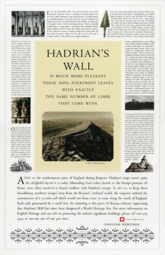 Hadrians Wall is much more pleasant_English Heritage