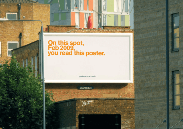 'On This Spot' Posterscope, Dave Dye, DHM