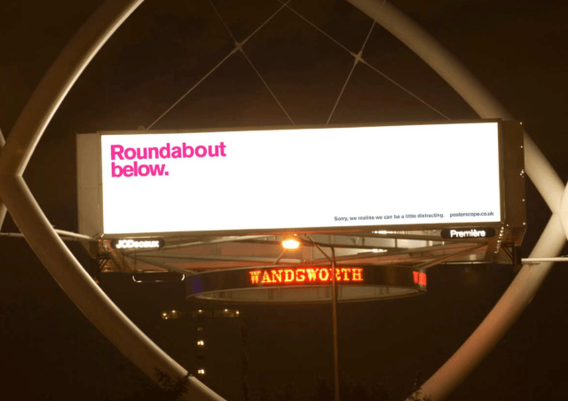 'Rounabout Below' Posterscope, Dave Dye, DHM