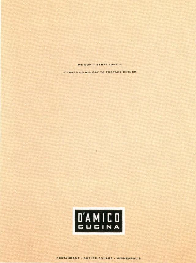 Fallon McElligott, D'AMICA 1-01