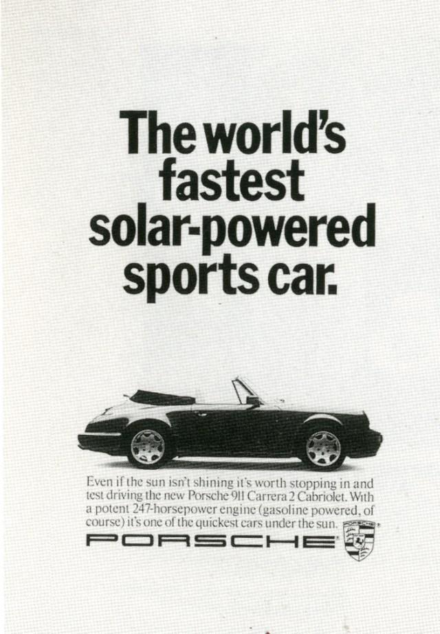 Fallon McElligott, Porsche 'Solar'-01