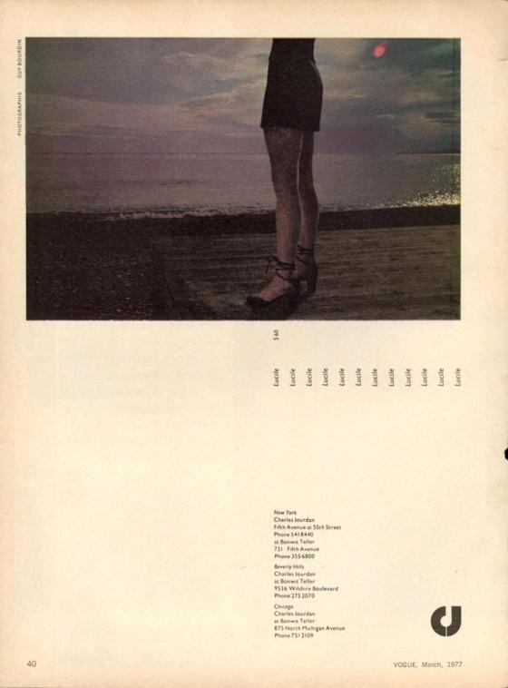'Legs At Dusk' Charles Jourdan, Guy Bourdain, 1975