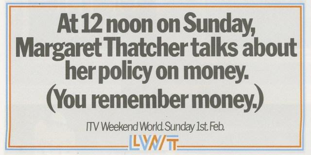 LWT 37. 'Money'