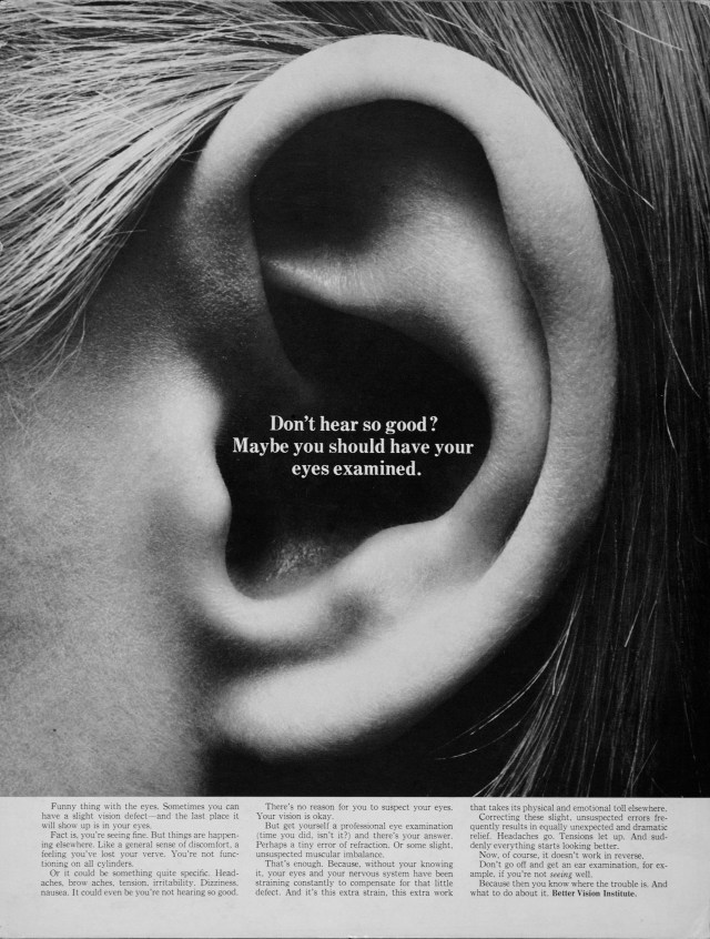 Better Vision Institute 'Ear' Len Sirowitz, DDB