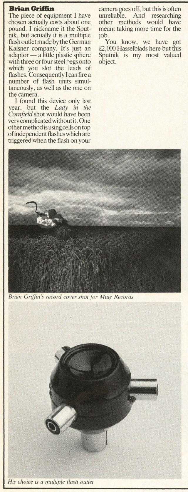 Brian Griffin, 'My Best Buy', Direction magazine-01