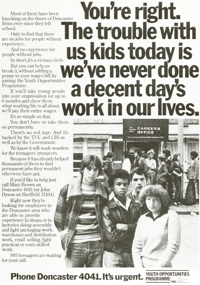 Jeff Stark, Youth Opportunities 'Days work', Saatchi's-01