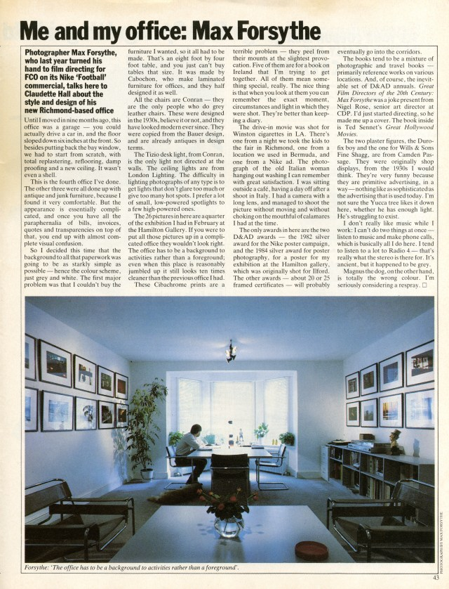 Max Forsythe - My Office, Direction Magazine-01