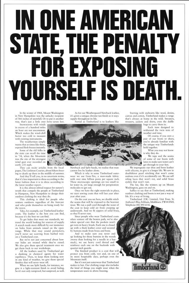 Tim Delaney, Timberland 'Exposing'