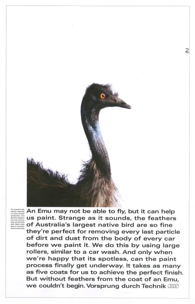 'An Emu May' Audi, Mark Reddy, BBH-01