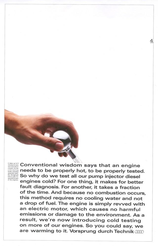 'Conventional Wisdom' Audi, Mark Reddy, BBH-01