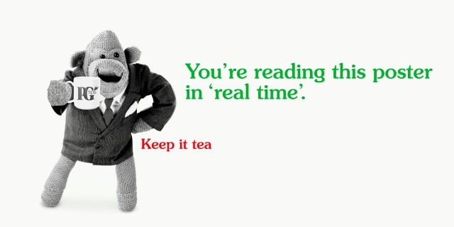 PG tips 'Real Time' rough