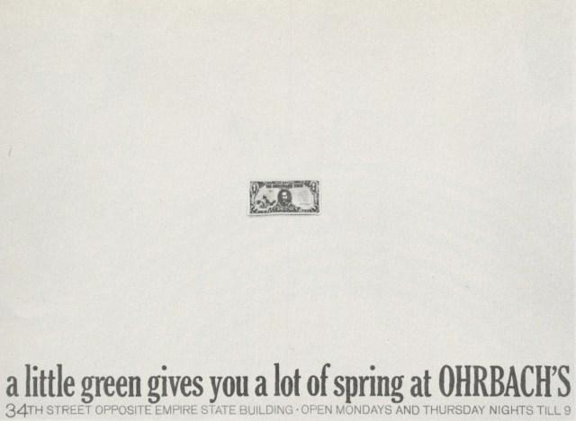 Ohrbach's 'Green', Sid Myers, DDB NY-01