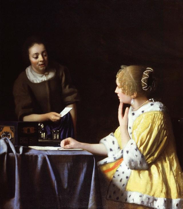 'Lady Maidservant Holding Letter' ' Vermeer.jpg