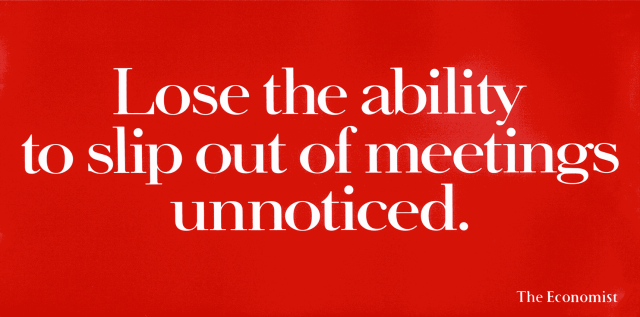 'Lose-the-ability' The Economist, Dave Dye, 48 sheet, AMV/BBDO