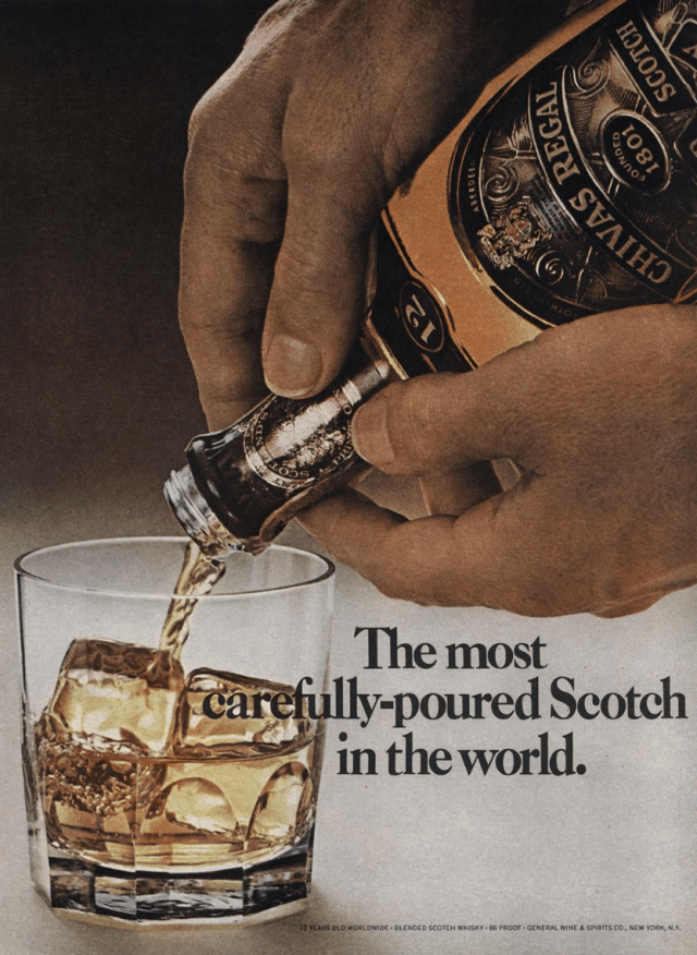 0. 'The Most Carefully Poured' Chivas Regal, DDB NY Esquire