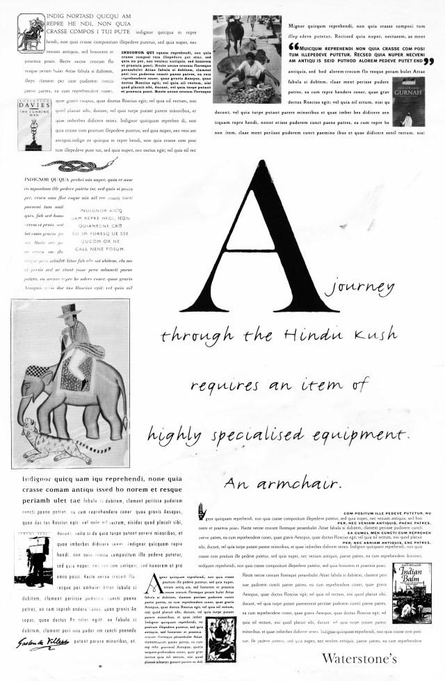 3. 'Hindu Kush' Waterstones, Dave Dye, Leagas Delaney
