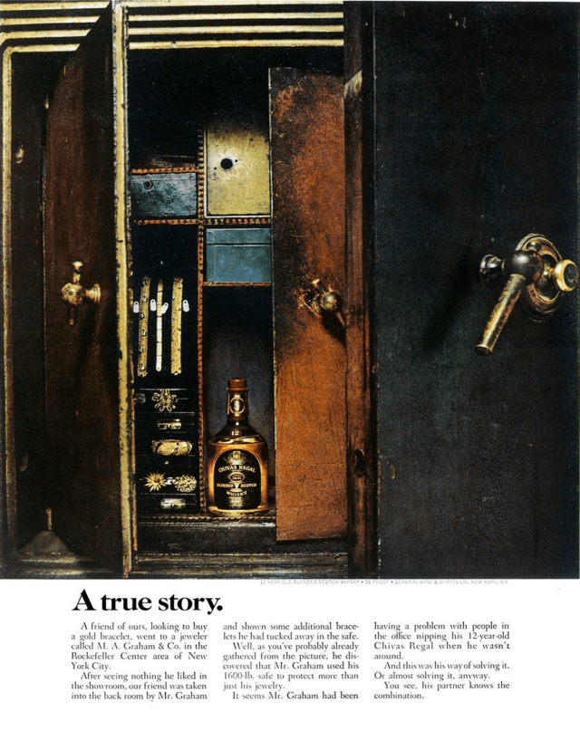 4. 'A True Story*' Chivas Regal, DDB NY (Esquire)