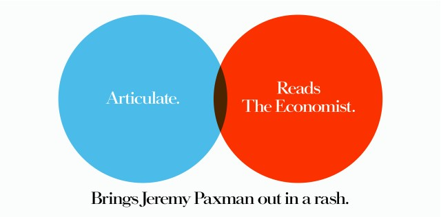 'Articulate' The Economist, Dave Dye, Venn, 48 sheet, AMV-BBDO