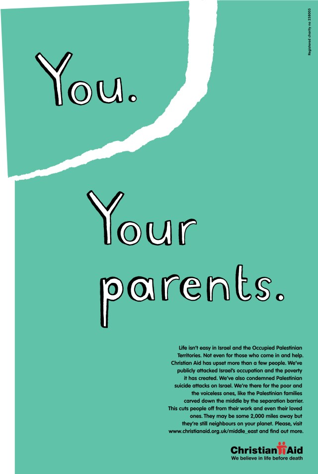 Christian Aid, 'Your Parents*', CDD-01
