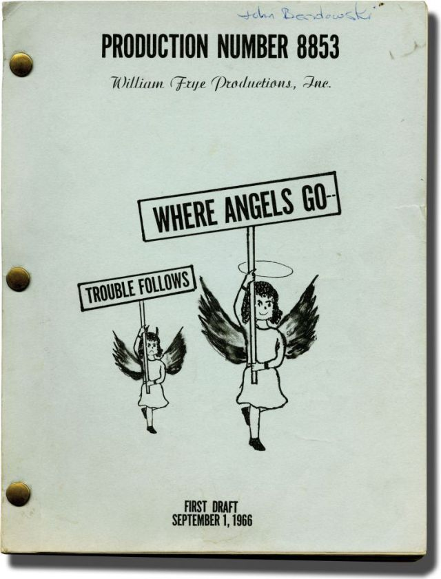 Jane Trahey, Where Angels Go', Script.jpg