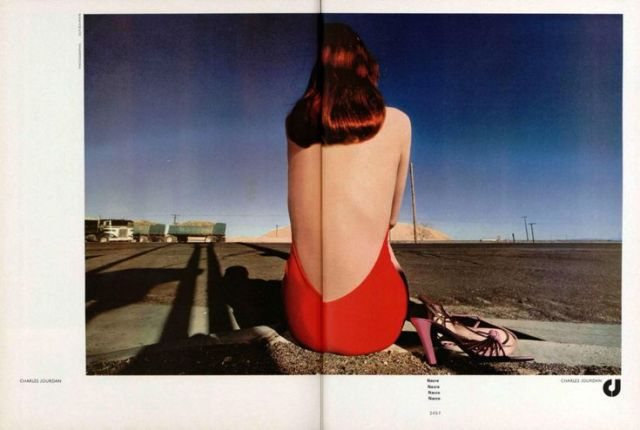 'Red Swimsuit:Back' Charles Jourdan, Guy Bourdain.jpg
