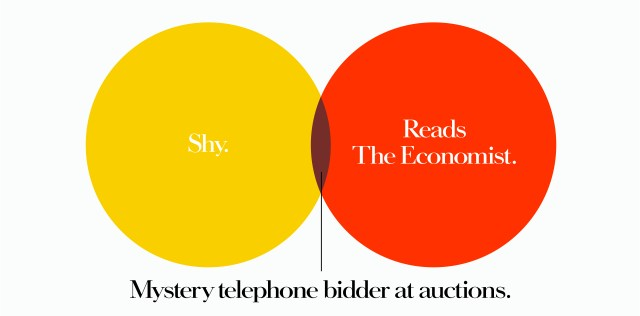 'Shy' The Economist, Dave Dye, Venn, 48 sheet, AMV-BBDO