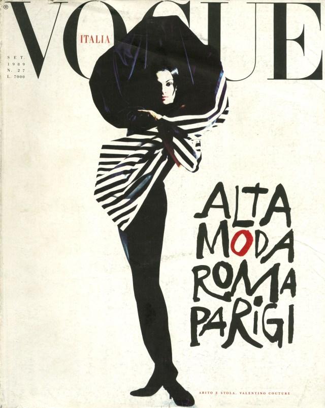 'Cover - Sept 1989' Vogue Italia, Satoshi Saikusa-01