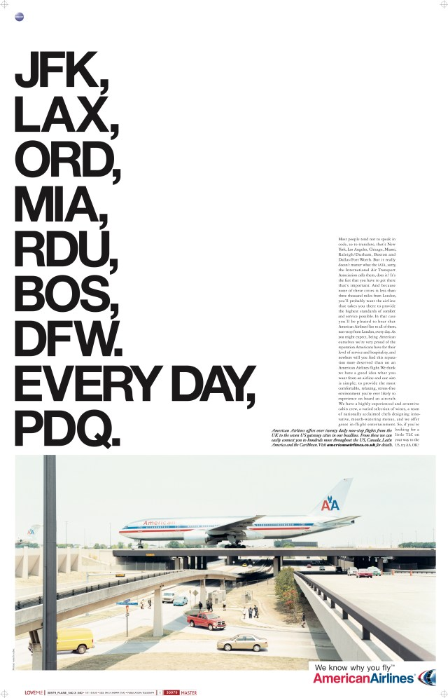 'JFK, LAXr' American Airlines, Mark Reddy, McCann's.jpg