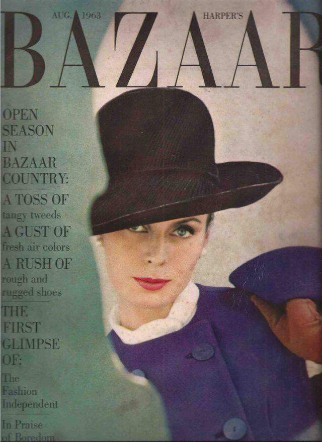 5e. Saul Leiter, Bazaar Cover 'Green Thing'.