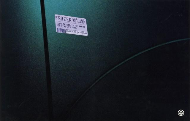 Volkswagen, Fleet Stickers, 'Frozen (Black Logo), BMP-DDB-01
