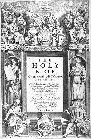 Title Page from a Old Bible