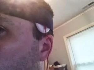 Dave Wearing Stimulator Ear Shot