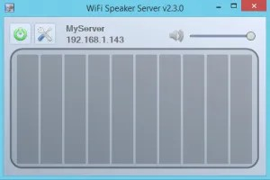 Screenshot of WiFi Speaker Server running on a Windows 8.1 machine.