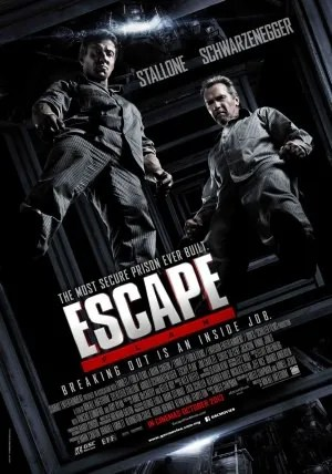 The poster for the movie, Escape Plan.