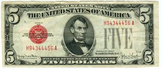 Five Dollar Bill.